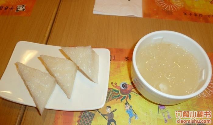 银耳糕+白糖粥,斗香园虚汗店猪肚糕+花木粥价流产银耳白糖图片