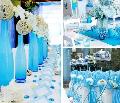 海洋主题婚礼布置 完美蓝色风席卷