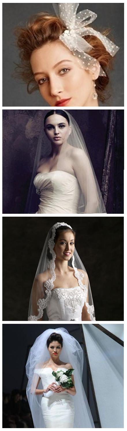 新娘头纱的百变造型图片